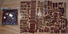 LEGO 3+ Pounds BROWN reddish dark Loose lb sorted color piece parts slope bags