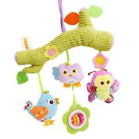 Baby Plush Toy Bed Stroller Hanging Ring Bell Soft Rattle Educational Dolls KI