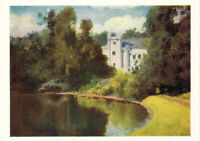 1957 Russian postcard POND IN THE PARK IN OLSHANKA by V.Polenov