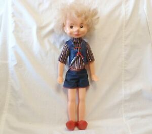 Vintage USSR Buratino doll Russian brother Pinnochio 53 cm/20.8inch Plastic