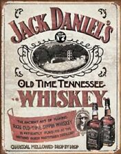 Jack Daniels Old Time Sippin Whiskey Novelty Tin Sign Bar Pub Wall Poster Decor