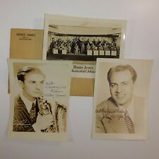 Harry James & his Chesterfield Music Makers autographed photos 1940s