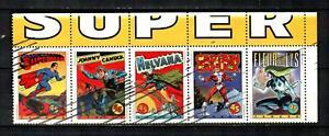 CANADA Scott's 1583a ( 5v ) Comic Book Characters, Superman F/VF Used ( 1995 )