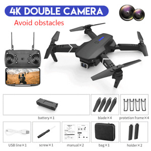 Drones 4K HD E525 Pro Avoid Obstacles Dual Lens Camera GPS Foldable RC Remote