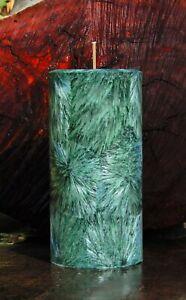 200hr FOREST GREEN CITRONELLA, AMBER & MYRRH Scented BUG REPELLENT PILLAR CANDLE