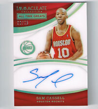 SAM CASSELL 2017-18 IMMACULATE COLLECTION ACETATE AUTO # 28/75 HOUSTON ROCKETS