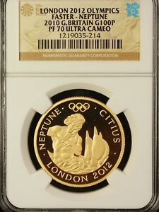 2012 Great Britain London Olympics 100 Pounds Gold Coin NGC PF-70 Ultra Cameo