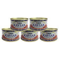 5x 120g (1kg/48,17€) Forellenkaviar Lachsforelle Forelle Kaviar Dose Aquakultur