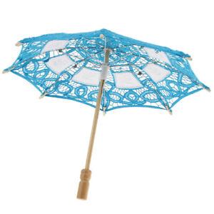 Lace Wedding Umbrella Vintage Kids Embroidery Sun Parasol Festival Decor