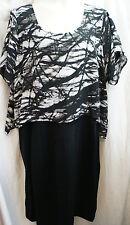 Size 22 LANE BRYANT WOMEN'S BLACK DRESS W/LOOSE TOP 1 PIECE, NWT!