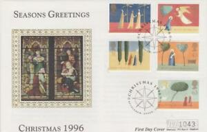 **  MERCURY SILK CHRISTMAS FIRST DAY COVER OCTOBER 28TH 1996 **