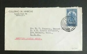 SC33 MEXICO Air mail cover to USA with 40c Bird man stamp
