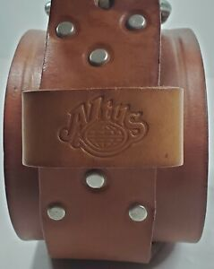 Altus Brown Leather 2-Prong Weight Powerlifting Belt Size Large 34 - 42 Waist