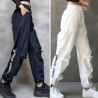 Women's Sports Pants Baggy High Waist Sweatpants Hip Hop Casual Fitness Trousers