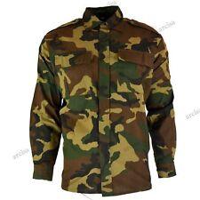 Original vintage Croatian army field shirt jacket military woodland camo NEW