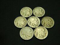 1920-D, 1924-D, 1925-D,1926-D,1927-D,1928-D,1929-D Old Buffalo Nickels US coins