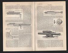 Lithografie 1909: Torpedos. Fischtorpedo Obrysches Gyroskop Schwartzkopffsche