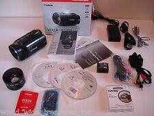 Canon HF S200 HD Camcorder Software Remote Wide Lens Lanc Mic-in  AV Comp Cables