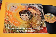DON BACKY LP QUATTRO STAGIONI 1°ST ORIG 1969 EX CON 12 TAVOLE DISEGNI 12 MESI