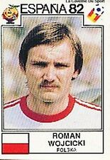 ROMAN WOJCICKI WORLD CUP 1982 STICKER PANINI FIGURINE POLSKA POLAND