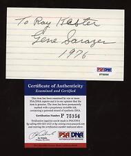 1976 Gene Sarazen Golfer Signed 3x5 Index Card  PSA DNA