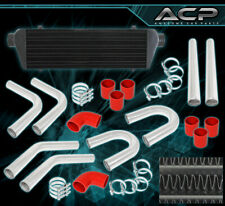 Turbo Charger Fmic Intercooler + Piping Pipe Kit + T-Bolt Clamps Couplers Red