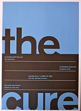 The Cure - Live at Cleveland Music Hall 1985 - Concert Advertising Poster