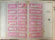 1914 G.W. Bromley Original Manhattan East Harlem Map Atlas 110th - 116th 22X32