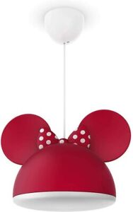 Philips Disney Minnie Mouse Children's Ceiling Pendant Lightshade, Red 790926