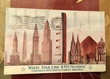 OLYMPIC TITANIC SIS BLDG SIZE COMPARISON POSTED AT SEA PAQUEBOT WHITE STAR LINE