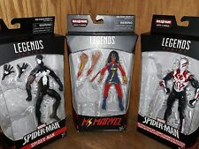 NEW HASBRO Marvel Legends SPIDER-MAN 2099/Black suit/ MS. Marvel BAF SANDMAN