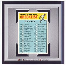 1966 Topps 5TH SERIES CHECK LIST #363 NM-MT **amazing card for your set** M88C