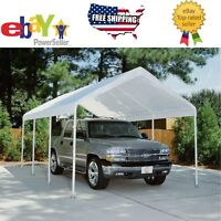 Replacement Canopy - White - 10' x 20', Carport Cover Tent. Frame Not Included
