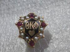 Old 10k Solid Gold Theta Kappa Phi Fraternity Gem Pin Badge