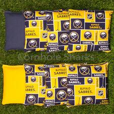 Cornhole Bean Bags Set of 8 ACA Regulation Bags Buffalo Sabres Free Ship!!