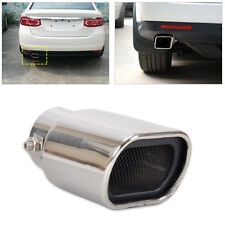 Universal Straight Stainless Steel Exhaust Rear Tail Silencer Tip Pipe End 63mm