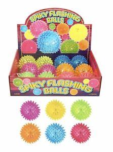 Cat Pet Dog LED Light Up Flashing Ball Play Toy Chasing Bouncy Spiky Ball PVC