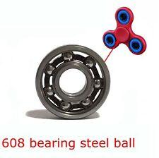 8x22x7mm Hand Fidget Spinner Steel Ball 608 Open Deep Groove Bearing Lasting New