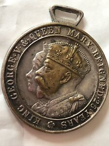 Very Rare King George V & Queen Mary Silver Jubilee Medal Gold Plated Kings Head