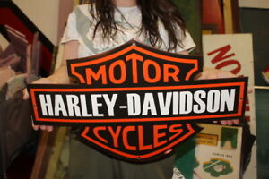 "Harley Davidson Motorcycles Dealership Gas Oil 23"" Porcelain Metal Sign"