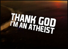 THANK GOD JDM car vinyl decal vehicle bike graphic bumper sticker Funny