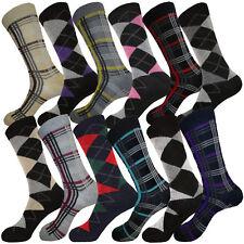 12 PAIR MIX PATTERN FASHION COTTON SOCKS MEN DRESS SOCKS SIZE 10-13
