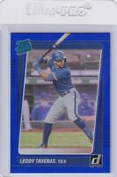 2021 DONRUSS RATED ROOKIE BLUE RC LEODY TAVERAS TEXAS RANGERS PARALLELS E7931