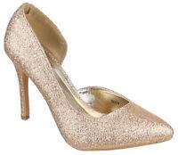 Zapatos talón mujer zapatos tacón alto lurex zapatos de mujer punta cerrada