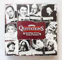 The Game Of Quotations Card / Board Game by MB Games 1989 Quotes Game Complete