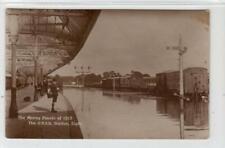 More details for the g.n.s.r. station, elgin - moray floods of 1915: morayshire postcard (c61253)