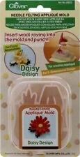 Clover Needle Felting Applique Mold - Daisy - Insert Roving into Mold and Punch