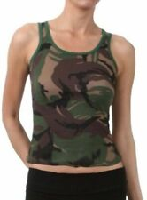 New Women's Juniors 100% Cotton Army Camouflage Tank Top size XL