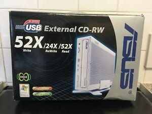 Vintage ASUS CRW-5224A-U External USB CD-RW Drive Boxed