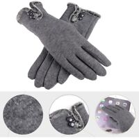 Women Winter Warm Gloves Ladies Girls Touch Screen Outdoor Driving Mittens Gift